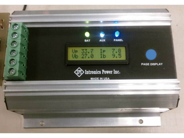 Solar Battery Charger Controller 12/24/36/48V  INTRONICS MPPT75HV  MADE in USA