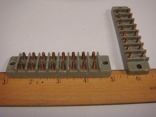 MARATHON KULKA 8TB08F NAVY CLASS 8 POLE 14AWG 30A 60Hz 300V TERMINAL BOARD 1