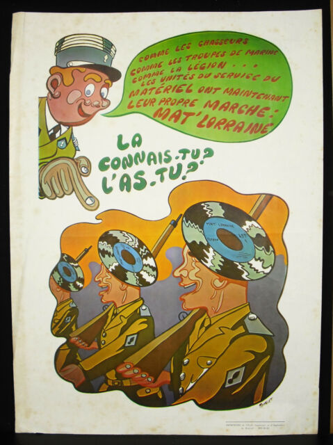 Matte' Lorraine Walking Of Units Of Service Of Gear Militaria Music Poster