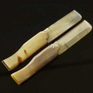 Details about Yak Horns Folding Moustache Beard Comb Hairbrush Anti Static  Hair Care Tool New