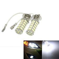 2x New Car H3 68 SMD LED White Auto Head Fog Light Headlight Lamp Bulb 12V DC US