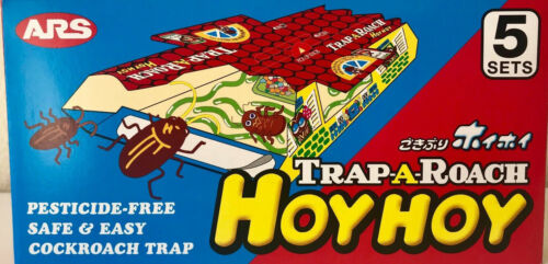 Hoy Hoy Roach bait Trap-A-Roach Made in Japan 1 Box 5 traps Pesticide-Free