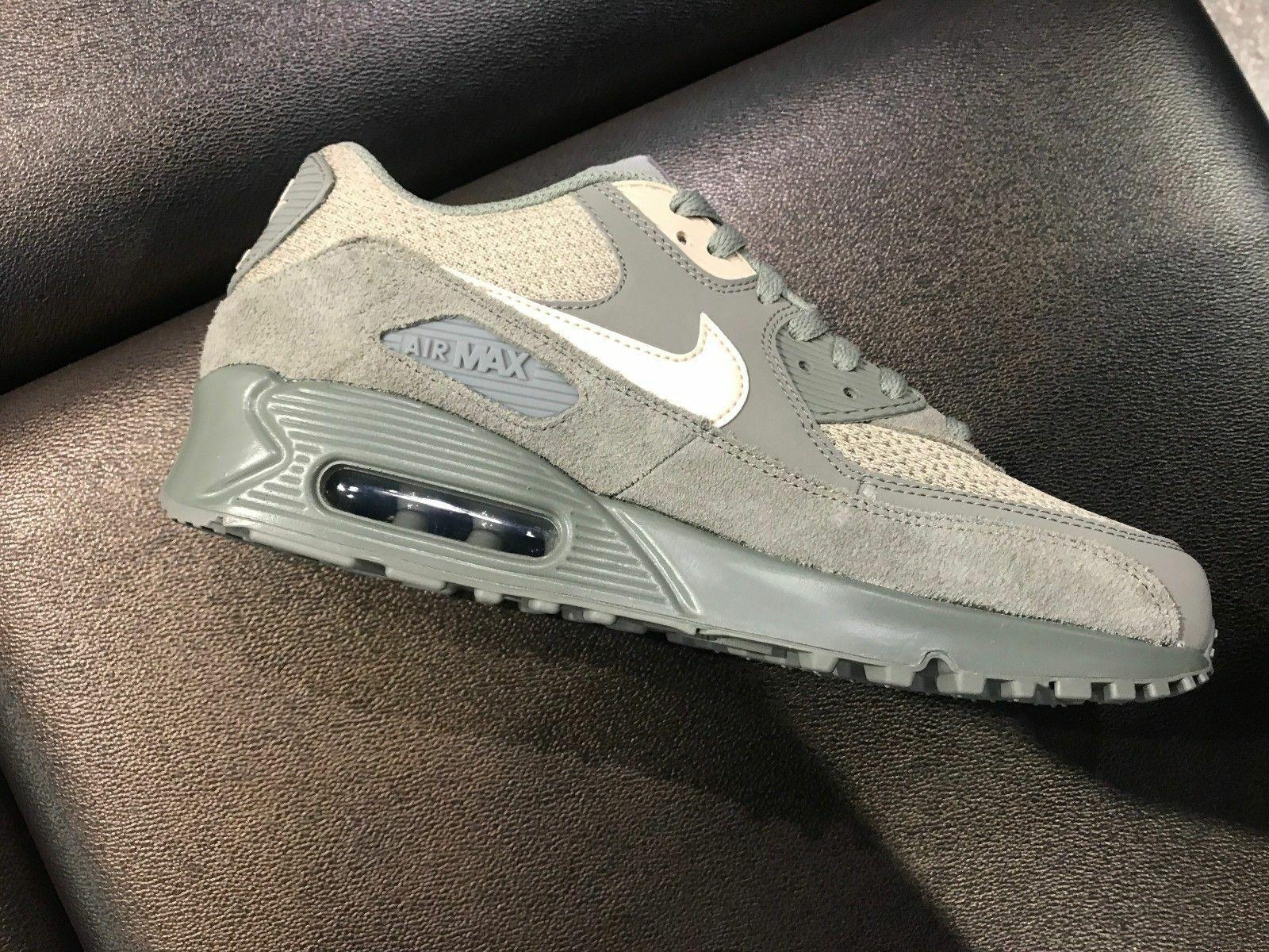 Nike Air Max 90 Premium Sneakers Dark Stucco   Mushroom 537384-096 New in Box 8