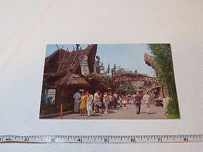 Adventureland United Air lines Tiki Walt Disneyland RARE Postcard Magic Kingdom