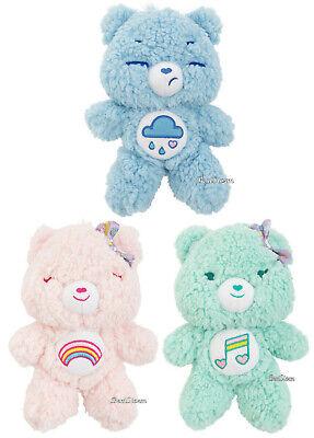"""8 1//2/"""" Care Bears CHEER BEAR Plush Furry Fuzzy Bean Bag Toy W// Rainbow 2017"""