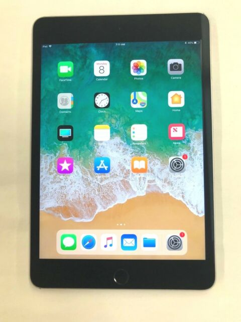 Apple iPad Mini 4 128GB, Wi-Fi, 7.9in - Space Gray (38-8D)