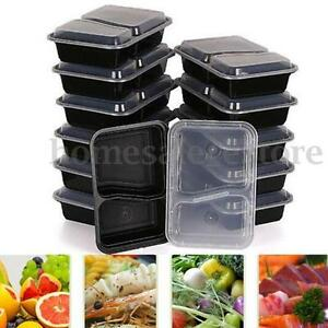 10pcs meal prep containers plastic food storage reusable microwavable lunch box ebay. Black Bedroom Furniture Sets. Home Design Ideas