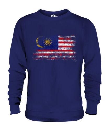 Malaysia Consumato Unisex Bandiera Malesi Effetto Maglione TTZgwqOS