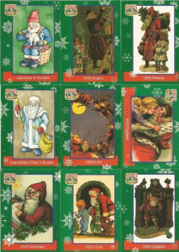 Santa Around the World Premier Edition Full 72 Card Base Set of Trading Cards