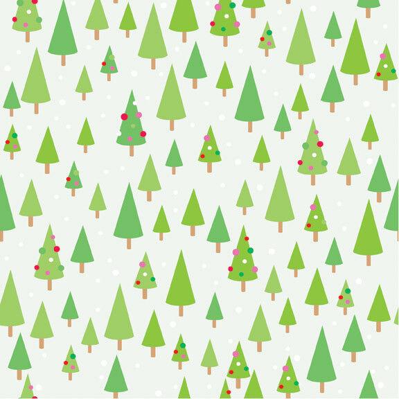 Riley Blake Fabric CHRISTMAS CANDY Green Christmas Trees yards