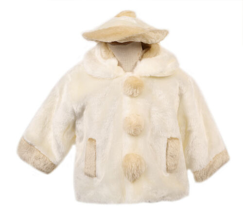 SPECIAL PRICE DROP Winter Jacket Ivory champagne Girl/'s faux fur coat Jacket