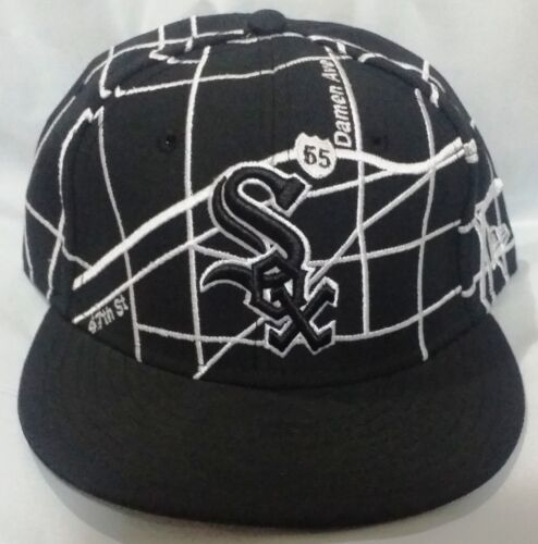 NEW ERA FITTED HATS CAP SOX COTTON MENS BRAND NEW BLACK WHITE SELECT YOUR SIZE
