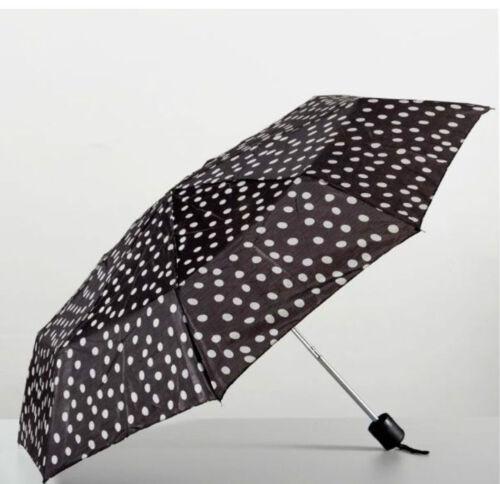 Gepunkteter Faltschirm Taschenschirm Schirm Durchmesser 90 cm 3 Farben zur Wahl