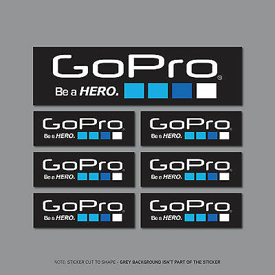 SKU2434-2 x Go Pro Be A Hero Stickers 197mm x 55mm Decals
