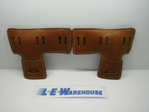 PAIR OF WEAVER LEATHER ARBORIST 130# L-SHAPED SLOTTED CLIMBER PADS #08-97158