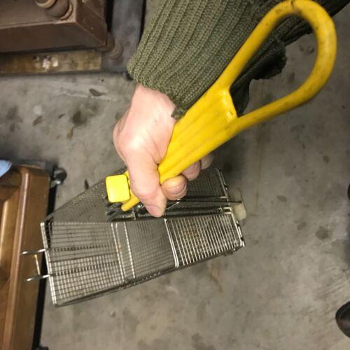 Commercial Deep Fryer Wire Basket 12x6x6  Restaurant bottom opens