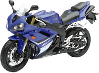 Ray Toys Street Bike 1:12 Scale Motorcycle - Yzf-r1 Blue 2008 43103 15-5100 on sale