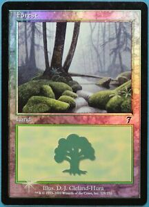 Forest (328) FOIL 7th Edition HEAVILY PLD Basic Land CARD (211888) ABUGames