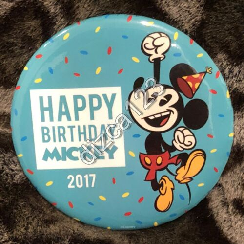 Disney Button Mickey Mouse 89th Birthday 2017 Button