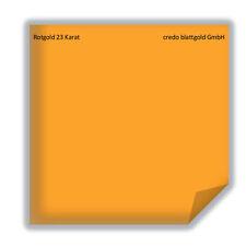 Blattgold Rotgold 23 Karat lose - 10 Blatt neu