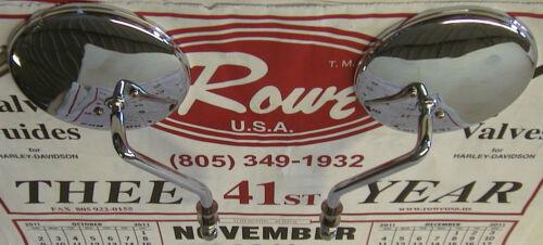 "73-UP Shovelhead Evolution Twin Cam Sportster 4/"" ROUND MIRRORS CHOPPER BOBBER"