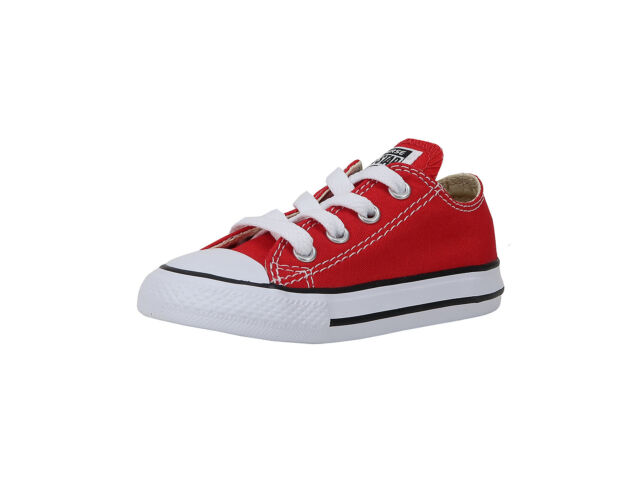 Converse Shoes Chuck Taylor All Star Infant Baby Red White Low Top Ox Girls 309de512a