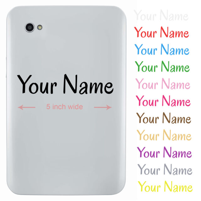 Personalised name sticker for tablet or ipad custom vinyl decal
