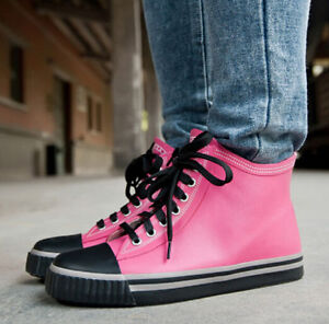 Womens-High-Top-Date-Shoes-Lace-Up-Ankle-Boots-Flat-Rain-Boots-Sport-Sneaker-Hot