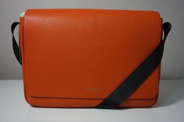 7ff7178d1d56 Michael Kors Men s Russel Burnt Orange Large Leather Messenger Bag