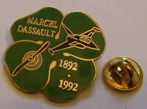 MARCEL-DASSAULT-JETS-RAFALE-100th-annivers-1892-1992-aviation-vintage-pin-badge