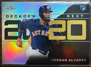 2020 Topps Chrome Update Yordan Alvarez Decade's Next Rookie Astros RC #DNC-4