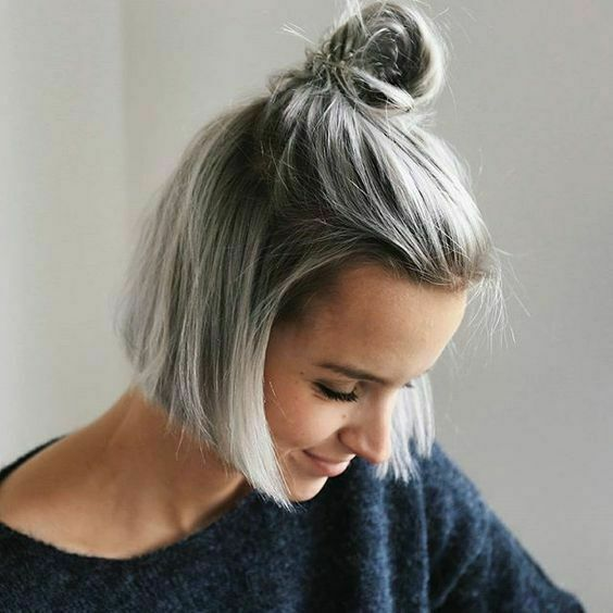 Short Bob Wig Straight Grey Ombre Synthetic Hair Full Wigs Fashion Women Us Ship For Sale Online Ebay