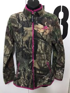 e37b50a131cee Ladies Mossy Oak Pink/Camo Full Zip Fleece Jacket Size Small 4-6 | eBay