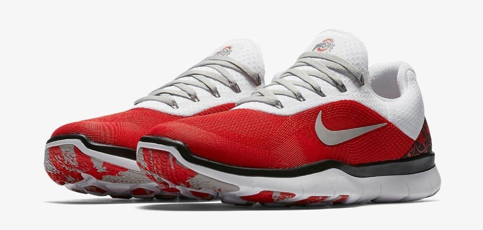 Mens 2018-Nike-Ohio-State-Buckeyes-Week-Zero-Free-Trainer-V7-Shoes NWTs size 11