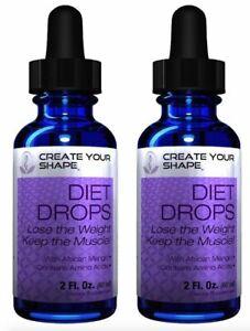 2-Diet-Drops-HCG-Free-Weight-Loss-Supplement-Lean-Health-Herb-1234-Fat-Burner