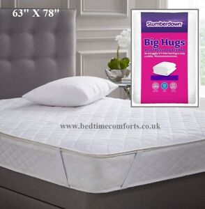 Slumberdown Feels Like Down Quilted Mattress Protectors Single Double King Size