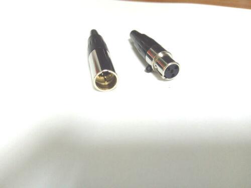 10set 4-pin TA4F Female Mini XLR Male plug Audio Microphone Aviation connector