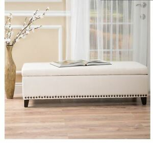 Storage bench with cushion end bed king upholstered - Bedroom storage bench upholstered ...