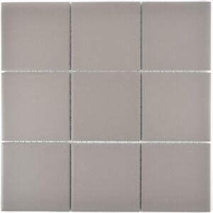 Détails sur Mosaïque carreau céramique gris non vitré cuisine bain mur  22-0202_f  10 plaques