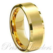 Tungsten Carbide Wedding Band Ring Brushed Silver Mens Jewelry Size 6-15 + Half