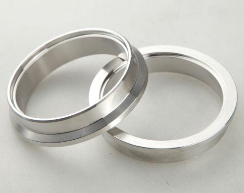 "2.5/"" Self Aligning Male//Female V-Band Vband Flange Ring CNC 304 Stainless Steel"