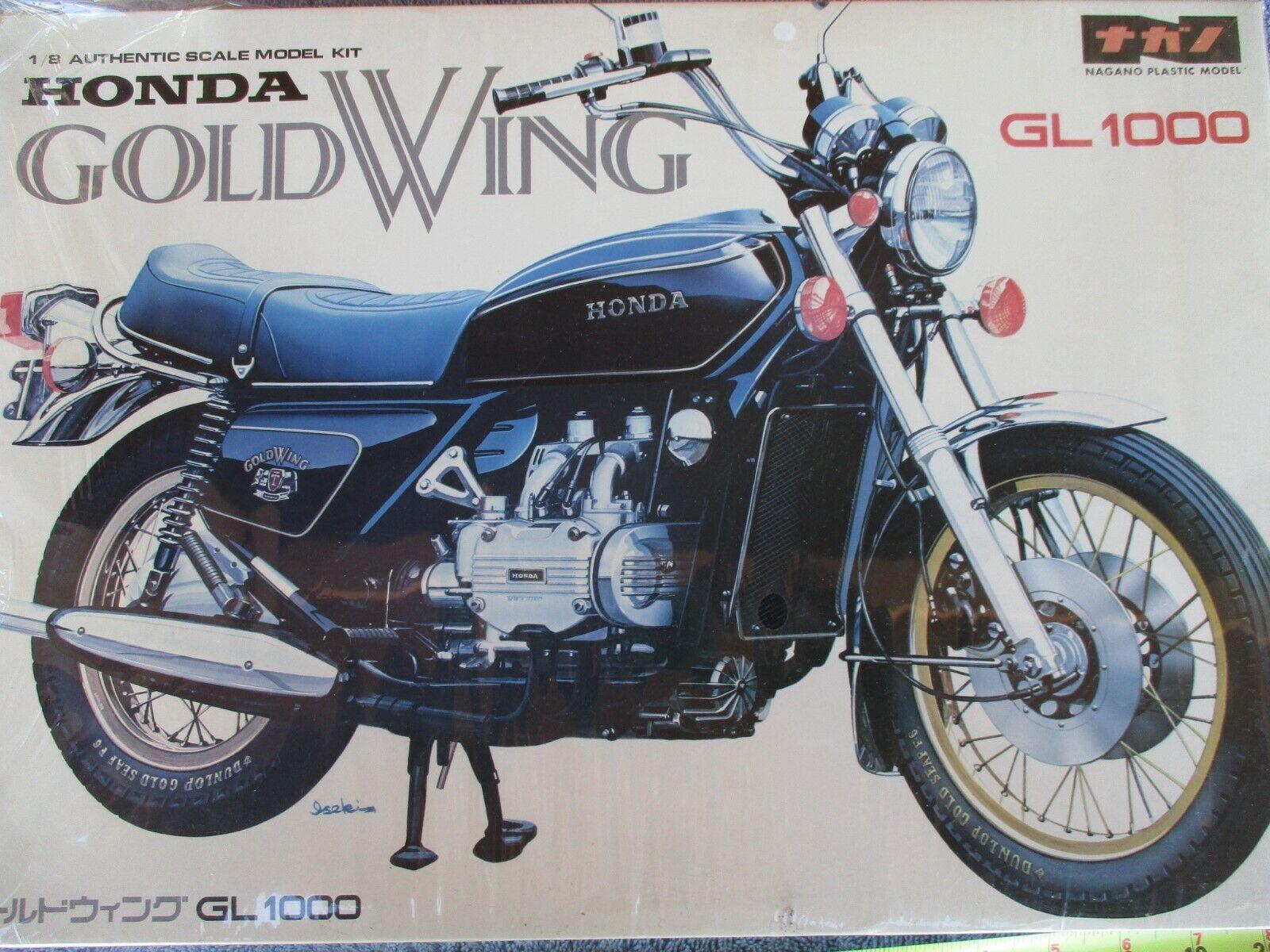 Vintage HONDA GL1000 gold WING 1 8  PLASTIC motorcycle MODEL KIT WRAPPED KIT