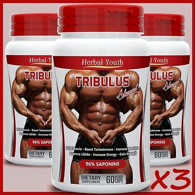 Vorsichtig Tribulus Terrestris Extract 96% Saponins Big Muscle Testosterone Booster Pills Up-To-Date-Styling