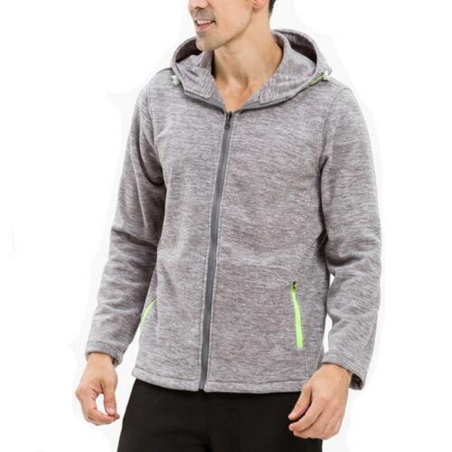 Lambretta Mens Full Zip Polar Fleece Long Sleeve Two Tone Zipped Warm Jacket Top