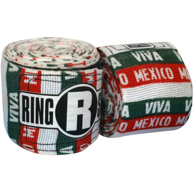 """Red New Ringside Pro Mexican Kick Boxing MMA Handwraps Hand Wrap Wraps 200/"""""""