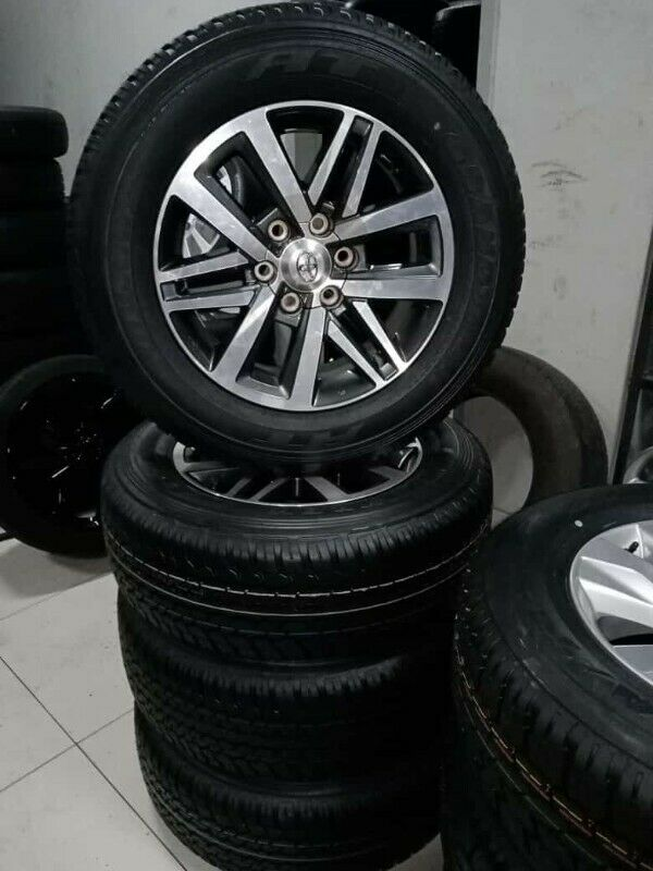 """18"""" Toyota Hilux/Fortuner mags with brand new 265/60/18 Dunlop AT set for R13799."""