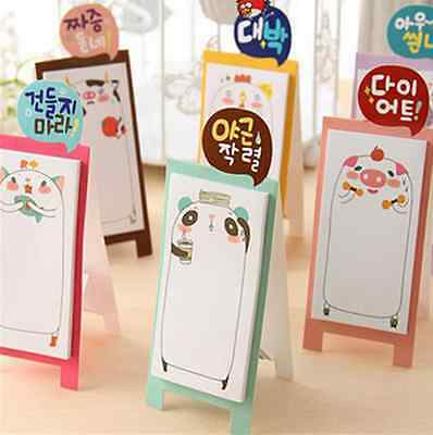 Korean Stationery Animal Family Stand Sticker Paste Memo Flags Sticky Notes