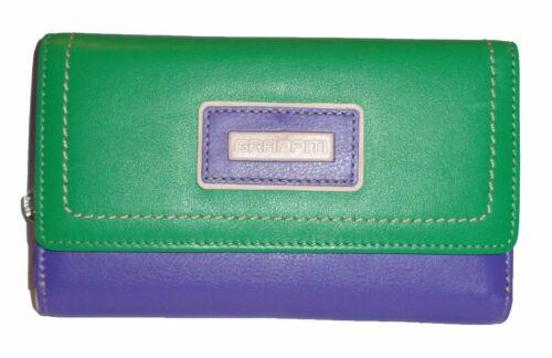 Graffiti//Golunski Medium Trifold Leather Purse Style 73067 Colour Various New