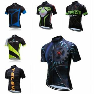 Men/'s Cycling Jersey Clothing Bicycle Sportswear Short Sleeve Bike Shirt Top S91