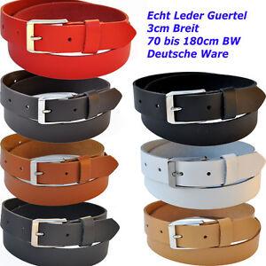 3cm-Breit-70-bis-180cm-Bundweit-ab-9-90-Euro-Leder-Guertel-Farbe-amp-Laenge-Waehlbar